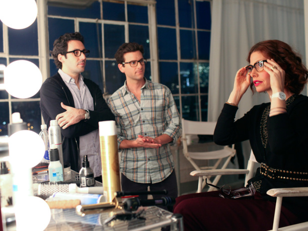 Todd Heisler/The New York TimesNeil Blumenthal, left, and David Gilboa, founders of Warby Parker, and online eyeglasses distributor, oversee a photo shoot featuring their products in New York, Nov. 5, 2010.
